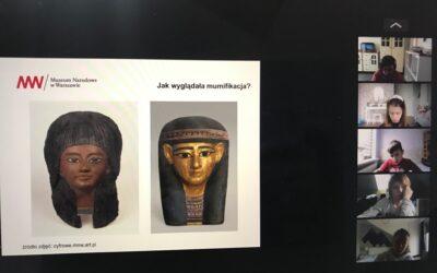 "Lekcja muzealna ,,Przepis na mumię"" klasa IIIM"